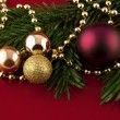 Christmas ornament with balls — Lizenzfreies Foto