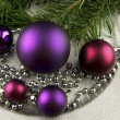 Christmas ornament with balls — Stock Photo