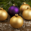 Christmas color balls — Stock Photo