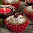 Christmas Homemade Muffins — Stock Photo #34705111