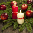 Christmas composition with candles — Foto Stock