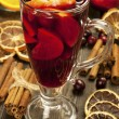 Christmas hot drink in glass — Stock Photo