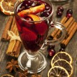 Winter hot drink with spices — Stock Photo