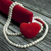 Романтический подарок в шкатулку, день Святого Валентина — Стоковое фото