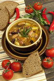 Beans vegetarian soup — Stock Photo