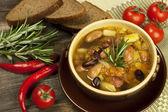 Bönor vegetarisk soppa — Stockfoto
