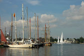 Ships in harbor  during The Tall Ships Races Baltic 2013 — Stock Photo