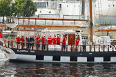 Crew of the ship  during The Tall Ships Races Baltic 2013 — Foto Stock