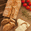Freshly baked traditional bread — Stock Photo #45733225