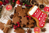 Homemade Christmas cookies — Stock Photo