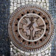Manhole in Berlin — Stockfoto