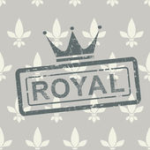 Grunge royal stamp on seamless background — Stock Vector