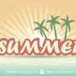 Tropical summer advertising background — Stock Vector