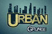 Urban background on grange texture — Stock Vector