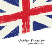 British flag grunge — Stock Vector