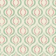 Seamless retro pattern. Vector background — Stock Vector
