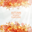Autumn leaves frame vector design. — Stock Vector