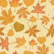 Autumn leaves seamless pattern. — Stock Vector