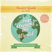 Travel guide to the world — Stock Vector