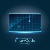 Binární kód — Stock vektor