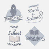 Retro elements for school calligraphic designs. — Stock Vector