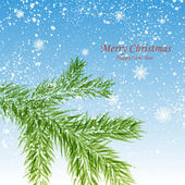 Merry Christmas natural winter light background. — Stock Vector