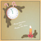 Merry Christmas and Happy New Year. — Stock Vector