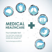 Medical health care background — Stock Vector