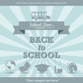 Back to school - retro vector illustration — Stock Vector