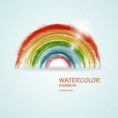 Abstract vector watercolor rainbow — 图库矢量图片