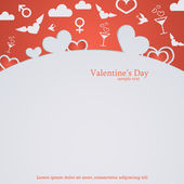 Valentines Day frame for design. Love background — Vettoriale Stock