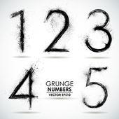 Set grunge numbers — Stockvector