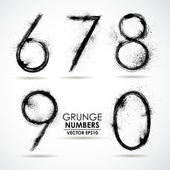 Set grunge numbers — Stock Vector