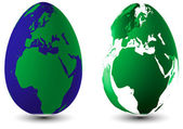 Two Easter eggs Globuse — Stock Photo