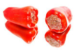 Peppers with minced meat — Stock Photo