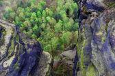 On the precipice — Stock Photo