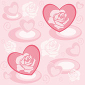 Heart with rose petals — Stock Vector
