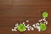 Food boards with purslane — Fotografia Stock