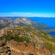 the aerial view of lake tahoe from the summit of tallac mountain — Stock Photo