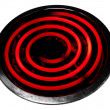 Glowing electric stove burner head spiral — Stock Photo #21309383