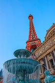 Eiffel tower on Strip, Las Vegas — 图库照片