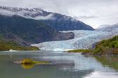Mendenhall gletsjer in juneau, alaska — Stockfoto