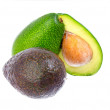 Mix of green and hass avocadoes. — Stock Photo #21314023