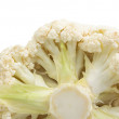 Cauliflower isolated on white — Stok fotoğraf