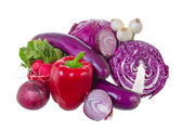 Assorted vegetables in violet gamma. — Stock Photo
