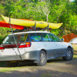 PATRICKS POINT STATE PARK, CALIFORNIA, US- MAY 2: Car loaded w — Stock Photo #25095529
