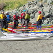 TRINIDAD, CALIFORNIA, USA - MAY 3: Explore North Coast sea kayak - Stock Photo