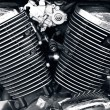 Stock Photo: Motorcycle engine.
