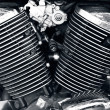 Motorcycle engine. — Stock Photo