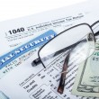 Stock Photo: Tax preparation